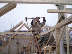 Ny tagetage, ny taghældning. Veluxvinduer. Nyt tag, tømrer og snedker Sønderborg, Gråsten og Broager