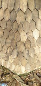 Bygholm Mølle, træspån, træbeklædning